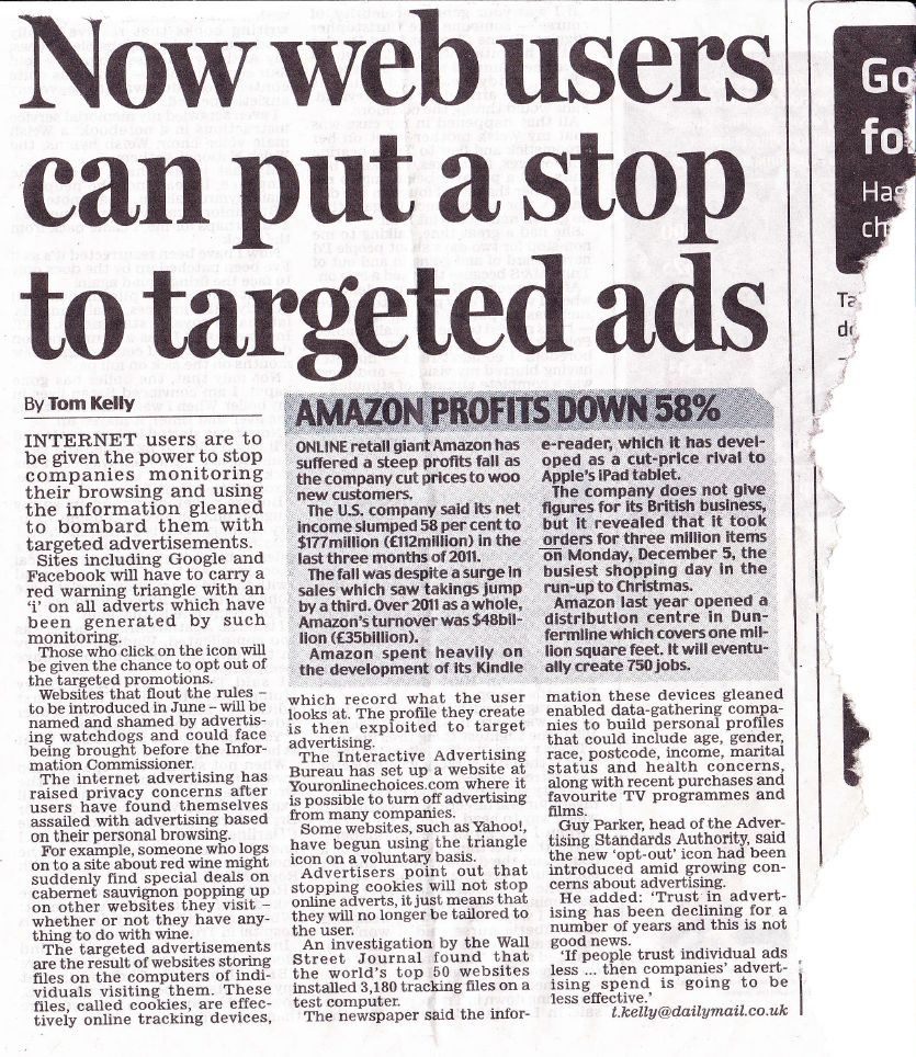 Advertising news article