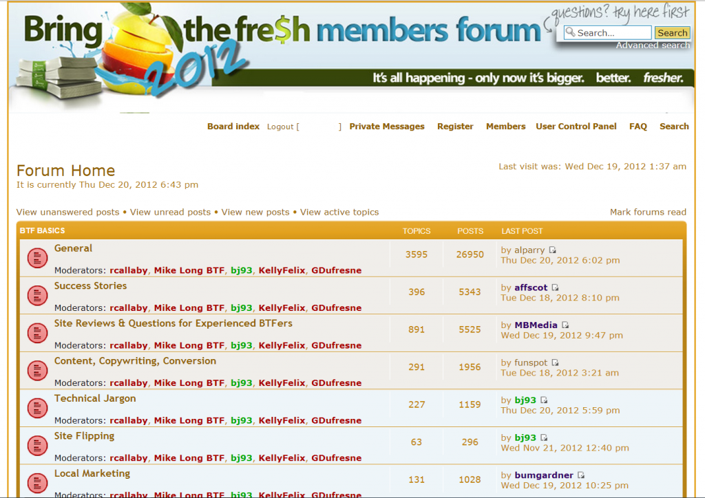 Bring The Fresh Members Forum