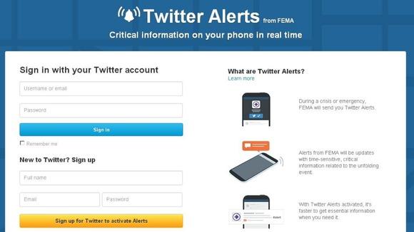 Twitter Emergency Alerts